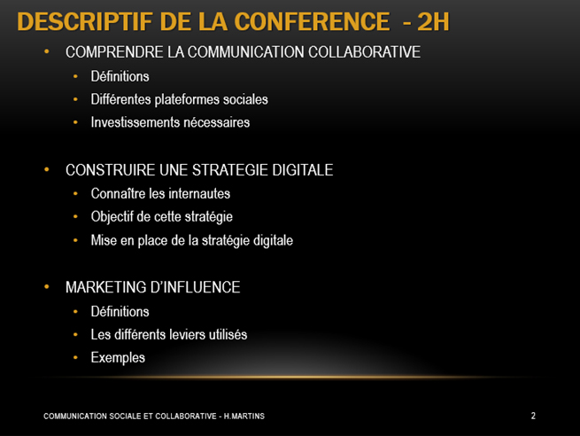communication digitale descriptif